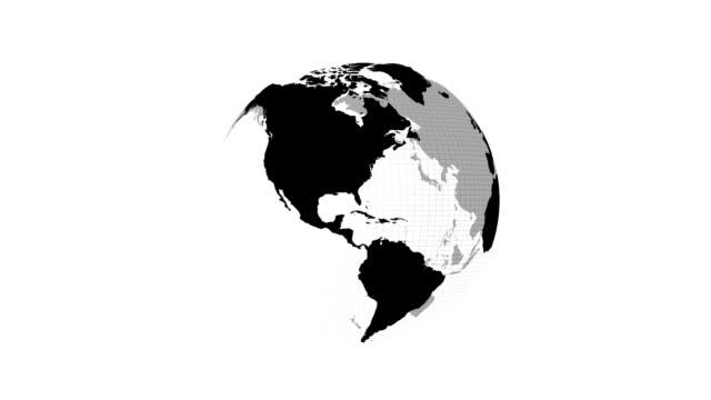 Rotating Earth globe video