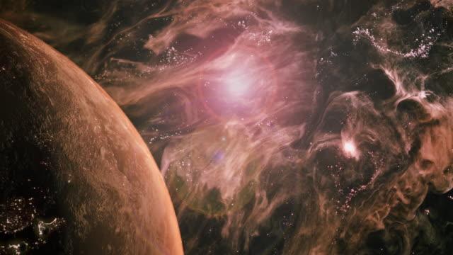 Rotating Earth in a Futuristic Orange Universe