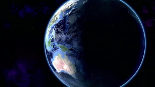 rotating earth zoom out - earth from space bildbanksvideor och videomaterial från bakom kulisserna
