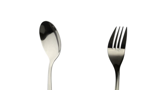 Rotating fork and spoon video