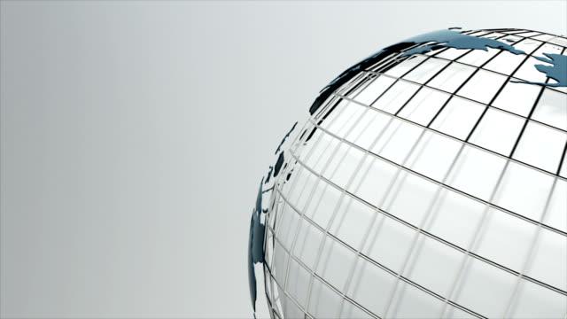 rotating globe. seamless loop. - sud est video stock e b–roll