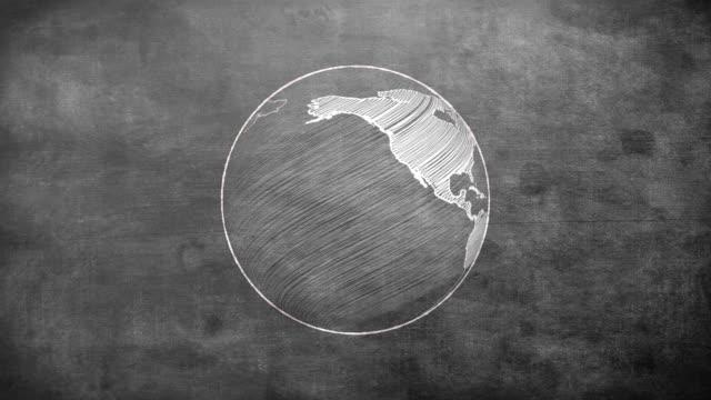 Rotating globe video