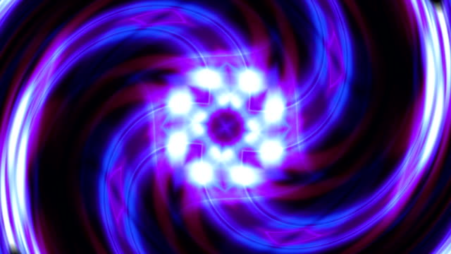 Rotating glowing patterns. Colorful graphic animation. video