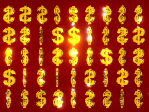vídeos y material grabado en eventos de stock de giratorio dólares fondo de oro - accesorio financiero