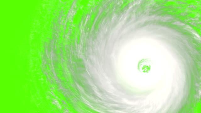 uragano rotante con cromakey incorporato in modo che possa essere arruffato su qualsiasi immagine o video. perfetto per video su: uragani, tifoni, andrew, katrina, tifone haiyan, tifone, haiyan - uragano video stock e b–roll