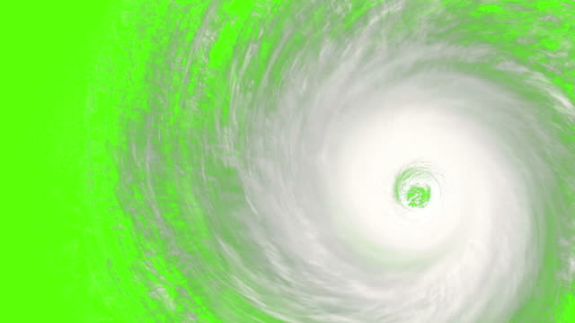 rotating hurricane with built-in chromakey video