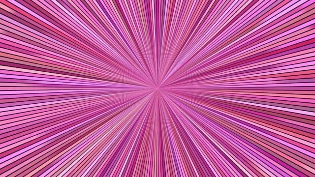 vidéos et rushes de rotation des rayures hypnotiques rafale - graphiques animés de boucle parfaite - image teintée