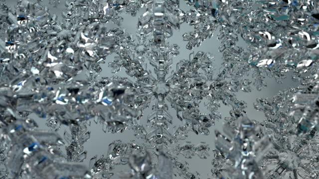 Rotating Ice Crystals with DoF Blue (loop) video