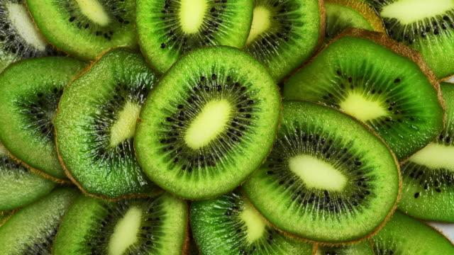 roterande kiwiskivor - kiwifrukt bildbanksvideor och videomaterial från bakom kulisserna