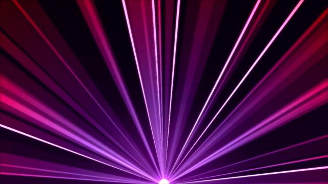 Rotating Light Beams Animation - Loop Purple video
