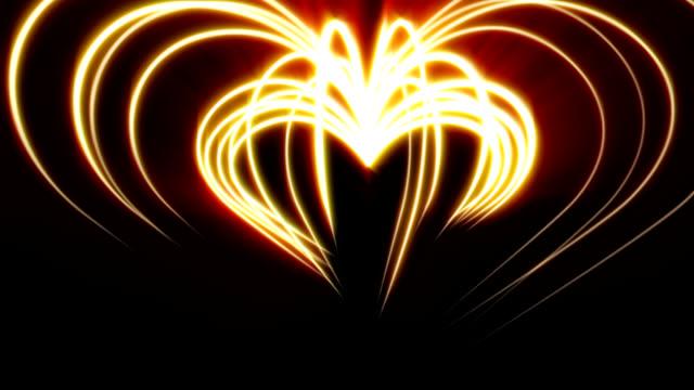 Rotierende Licht hearts – Video