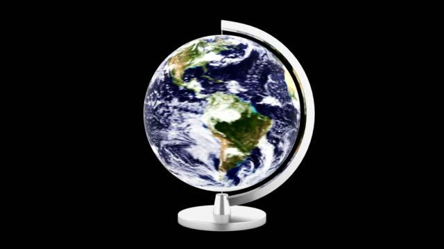 rotating loop abstract world on black background - линия экватора стоковые видео и кадры b-roll