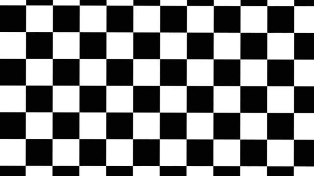 rotierende looping-animation aus schwarz-weiß-scheckbrett - karo stock-videos und b-roll-filmmaterial