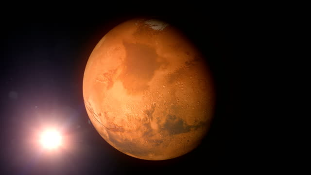 Rotating Mars and Sun video