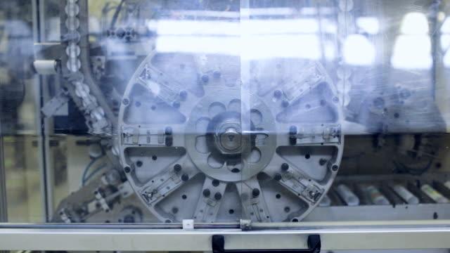 Rotating mechanism and conveyor belt. Industrial theme video