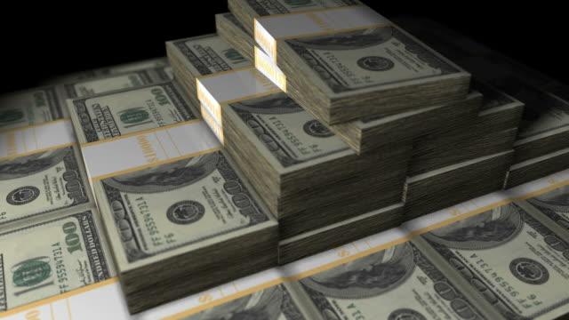 denaro con alfa loop rotante - bonus video stock e b–roll