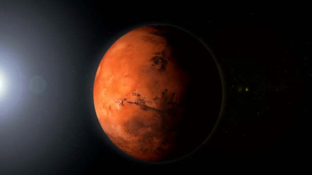 roterande planet mars i rymden med svart hål - mars bildbanksvideor och videomaterial från bakom kulisserna