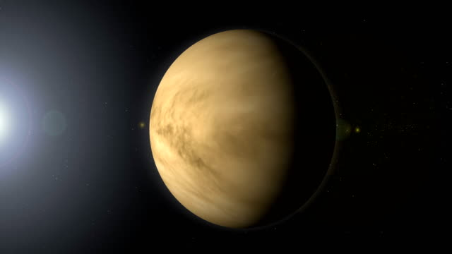 Rotating Planet Venus in Space with Black Hole