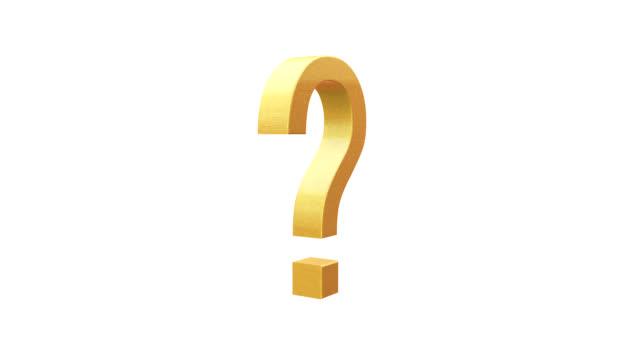 vídeos y material grabado en eventos de stock de giratoria marca pregunta - faq