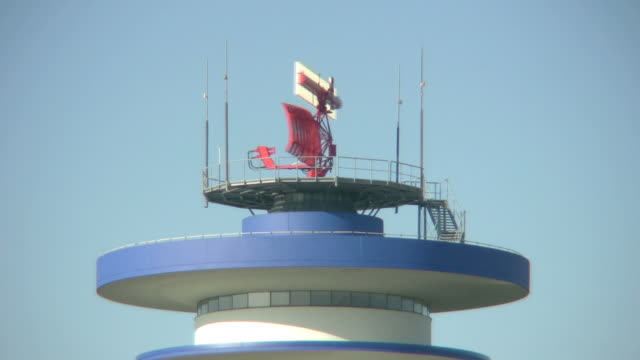Rotating Radar on Aiport Tower 'seamless loop' HD video