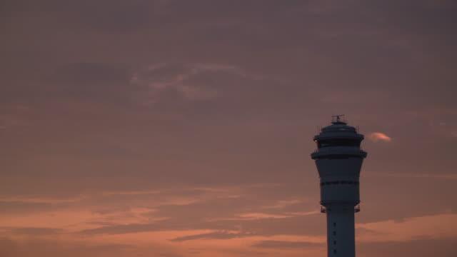 4K, Rotating Radar on Aiport Tower. video