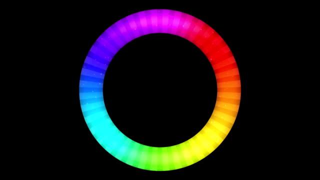 Rotating Rainbow Button, Seamless Loop video