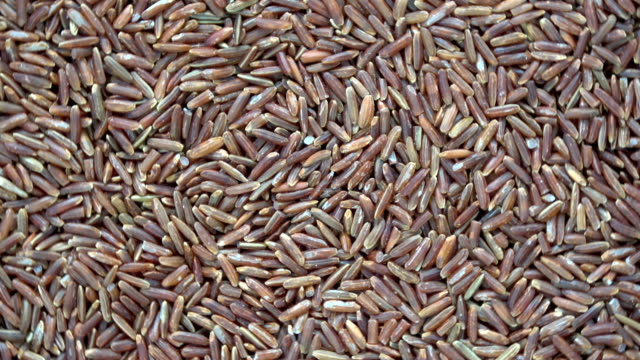 Rotating red rice background video
