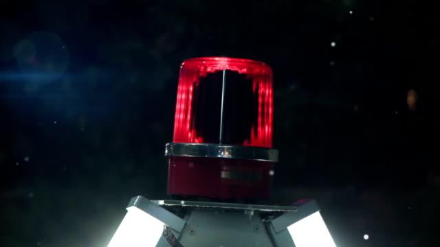 rotating red siren light video