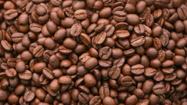 Rotating shot of coffee beans