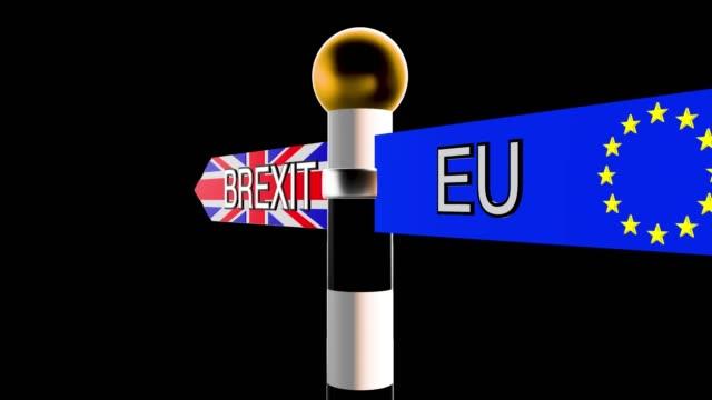 roterande skylt med orden brexit och eu på flaggan bakgrunder - brexit bildbanksvideor och videomaterial från bakom kulisserna
