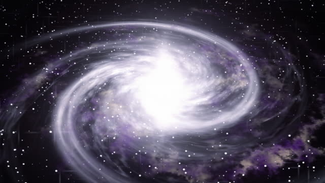 Rotating spiral galaxy deep space exploration. Space background. Seamless loop. video