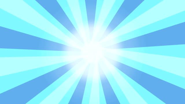 vídeos de stock e filmes b-roll de rotating sunburst sunray loopable 4k vintage style animation. - cool