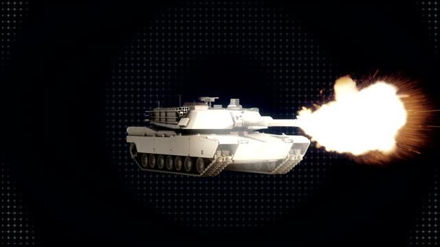 Rotating tank, Firing gun, concept. video