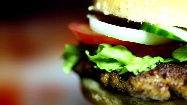Rotating tasty Hamburger