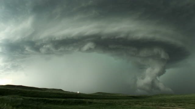 Rotating Tornado Cloud Formation