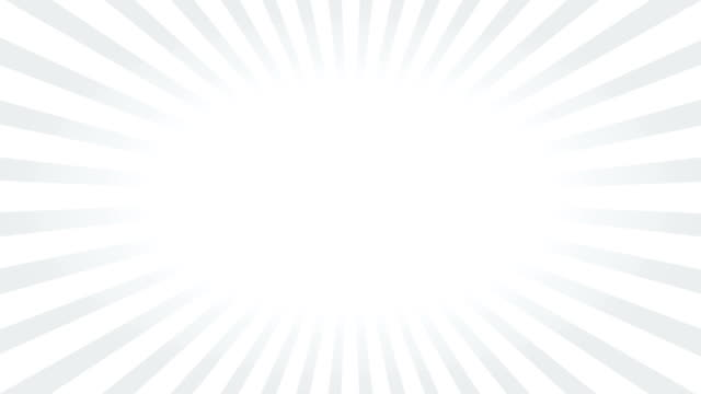 Rotating white and gray ray, radiating (or sunburst) style background video