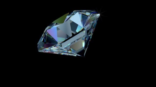 Rotating White, Blue and Pink SINGLE Cut Diamond with Sparkles video