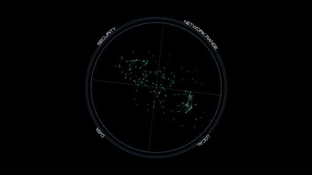 UI Rotation circle - Hi-tech Stock Video video