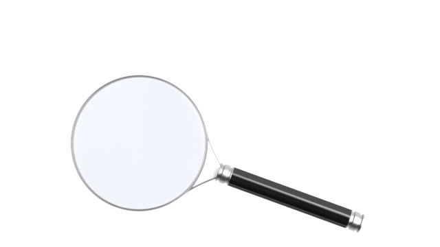 Rotation magnifier on white background. Isolated 3D render Rotation magnifier on white background. Isolated 3D render magnifying glass stock videos & royalty-free footage
