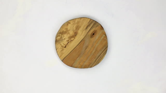 Rotation of a round frame made of pine wood video