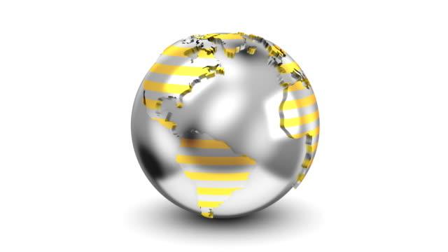 vídeos de stock e filmes b-roll de rotation of the earth - circular economy