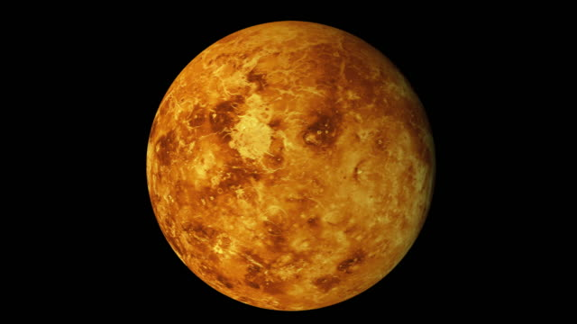 rotation of the planet venus, computer generated. 3d rendering of realistic background. elements of this image are presented by nasa - venus filmów i materiałów b-roll