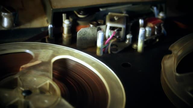 回転リール テープ、テープ レコーダー - スパイ点の映像素材/bロール