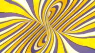 istock Rotation spiral optical illusion, hypnotic geometric pattern. 3d rendering digital seamless loop animation. Material design backdrop. 4K, Ultra HD resolution 1274052881