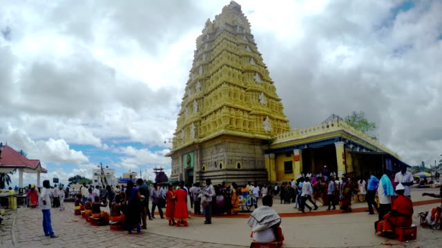 rotation timelapse Indian temple video
