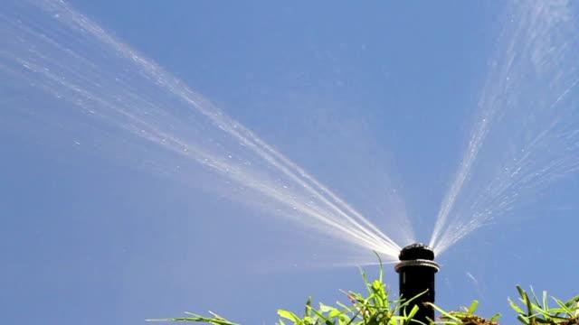 mp rotator sprinkleranlage rechten untergeht - wassersparen stock-videos und b-roll-filmmaterial
