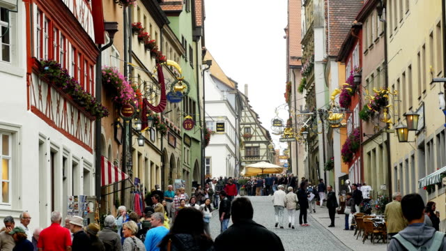 Rothenburg Obere Schmiedgasse (4K/UHD to HD) video