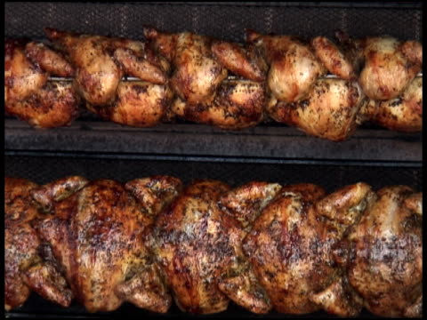 Rotisserie Chicken Cooking / Rotating: Wide video