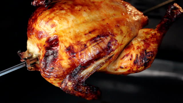 Rotisserie Chicken Single rotisserie chicken cooking full length stock videos & royalty-free footage