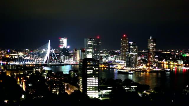 skyline di rotterdam - rotterdam video stock e b–roll